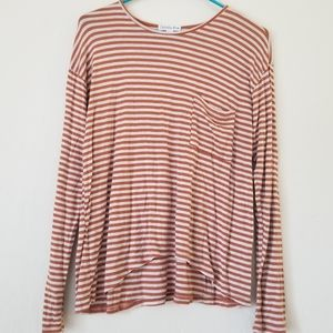 Orange stripe long sleeve tshirt